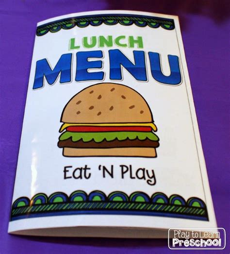 Restaurant Dramatic Play  Play To Learn Teaching
