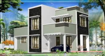 Home Design Gallery - 1278 sq kerala flat roof home design kerala home design and floor plans