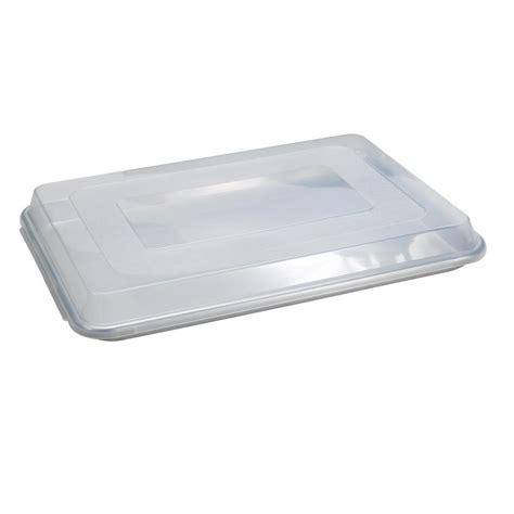 baking sheet aluminum ware nordic half cookie pan plastic lid naturals steel homedepot encapsulated rim natural sheets shape sold
