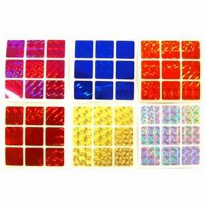 3x3 stickers mosaic set magic cube replacement With 3x3 square labels