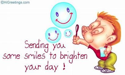 Clip Clipart Smiles Send Brighten Smile Card