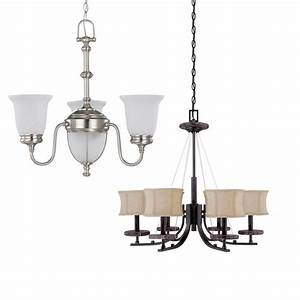 Brushed Nickel 5 Light Or Ledgestone 6 Light Chandelier