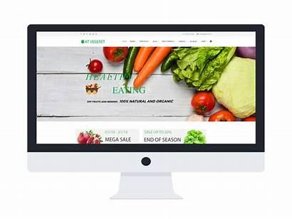 Template Joomla Organic Vegetables Themes