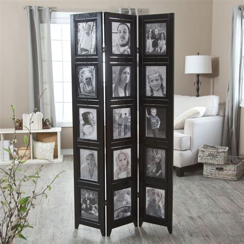 Memories Double Sided Photo Frame Room Divider  Black 3