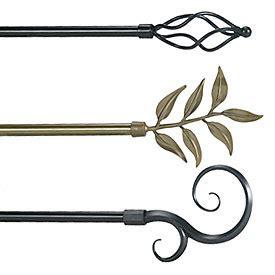 decorative drapery hardware custom curtain rods drapery