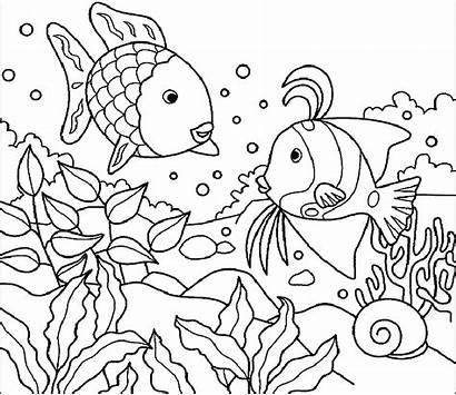 Mewarnai Gambar Pemandangan Laut Untuk Sketsa Anak