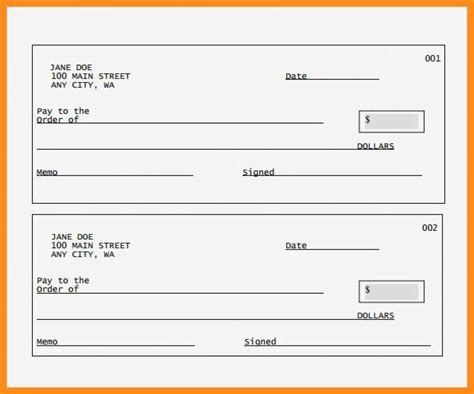 Resume Sle Editable by 12 13 Blank Cheque Template Editable Lascazuelasphilly