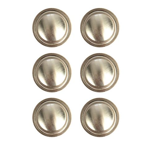wickes ring knobs brushed nickel finish 35mm 6 pack