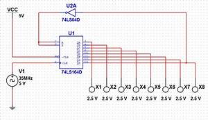 Ring Counter Or Johnson Counter Circuit With 74ls164