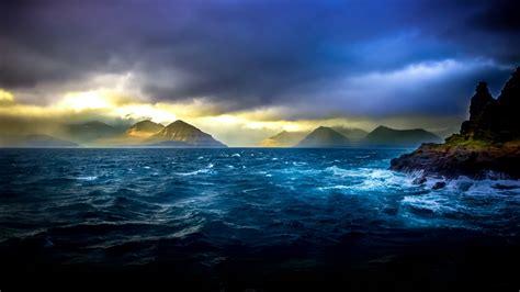 Hd Wallpaper For Macbook Pro Cloudy Sky Over The Ocean Wallpaper Wallpaper Studio 10 Tens Of Thousands Hd And Ultrahd
