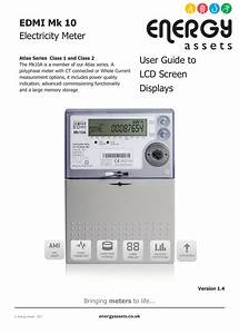 Edmi Mk 10 Electricity Meter User Guide To Lcd Screen