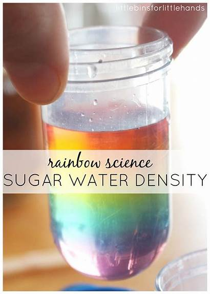 Science Rainbow Experiment Density Water Sugar Experiments