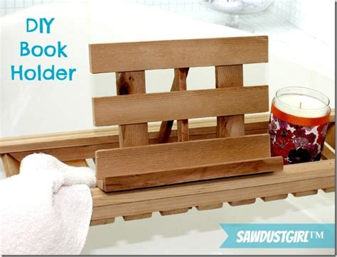 diy book holder for bath caddies sawdust girl 174