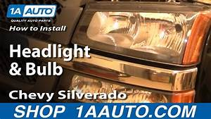 How To Install Replace Headlight And Bulb Chevy Silverado