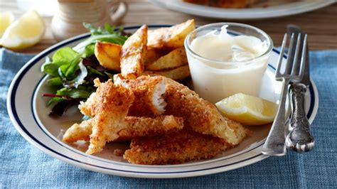 Crunchy Fish Goujons And Wedges