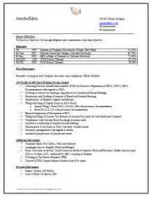 It Company Resume Format by 10000 Cv And Resume Sles With Free