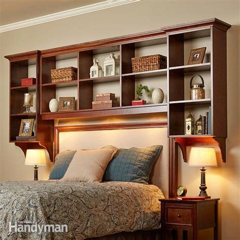 Showcase Shelves: DIY Bed Built ins   The Family Handyman
