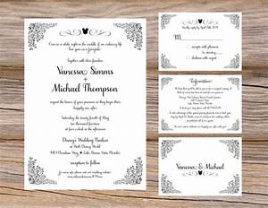 sample disney fairytale wedding invitation suite mickey With how to make wedding invitations inserts