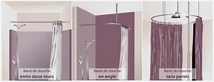 Barre De Baignoire D Angle A Ventouse : poser un rideau de douche douche ~ Premium-room.com Idées de Décoration