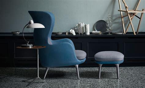 fritz hansen ro ro lounge chair and ottoman hivemodern