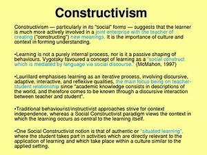 Social Constructivism In The Classroom