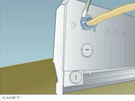 how to install an electric baseboard heater from cadet youtube