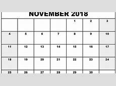November 2018 Printable Calendar Templates