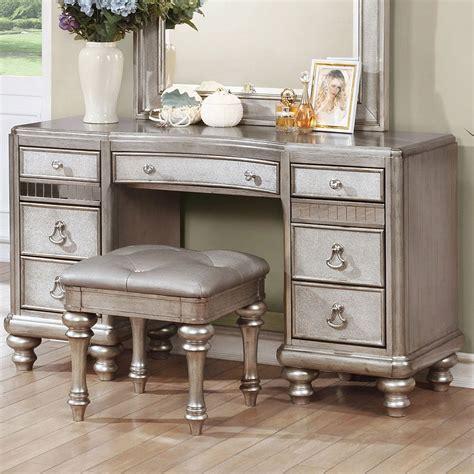 Bedroom Vanity Furniture by Bling Vanity Desk By Coaster Furniture 2 Review S