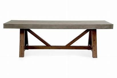 Dining Concrete Table Modern Modrest Acacia Revok