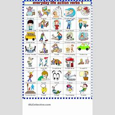 Everyday Life Action Verbs 1  Children Education  Action Verbs, English Vocabulary, Verb