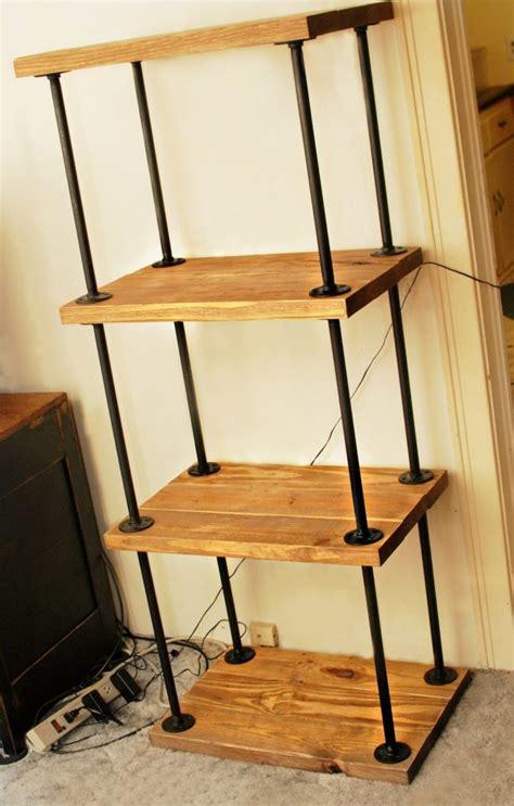 diy plans  build  pipe bookshelf inhabit zone