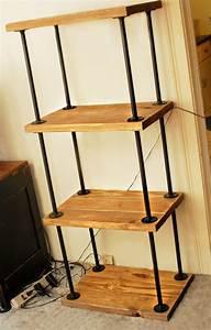 diy plans to build a pipe bookshelf inhabit zone
