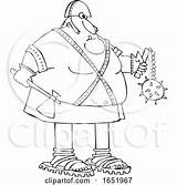 Axe Cartoon Executioner Holding Flail Chubby Djart sketch template