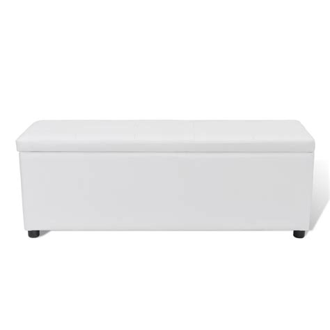 banc coffre de rangement blanc acheter banc banquette coffre de rangement blanc taille moyenne pas cher vidaxl fr