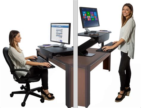 adjustable sit stand desk adjustable height gas spring easy lift standing desk sit