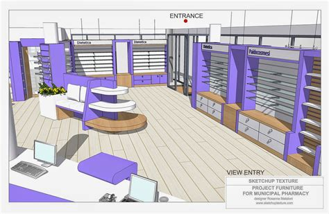 sketchup texture   design  modern pharmacy