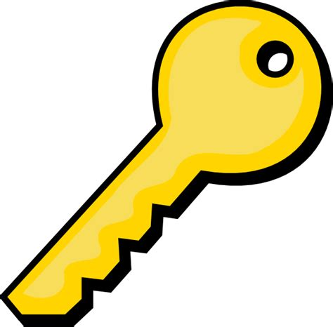 Clipart Key Gold Key Clip At Clker Vector Clip