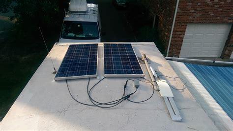 basic diy rv solar installation road work play