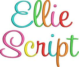 font design ellie script embroidery font digistitches machine embroidery designs
