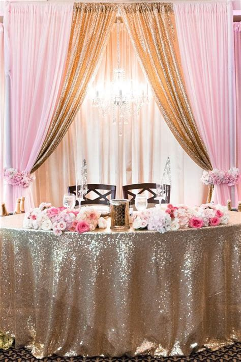 Fairytale Pink and Gold Wedding Gold wedding theme Pink