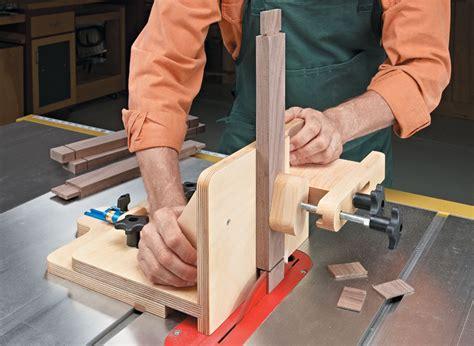 adjustable tenoning jig woodworking project woodsmith