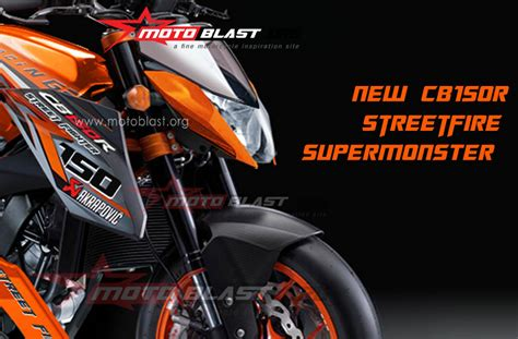 Honda Cb150r Streetfire Modification by Modif Honda Cb150r Streetfire Supermonster Motoblast