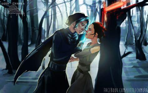 Kylo Ren And Rey By Littlechmura On Deviantart