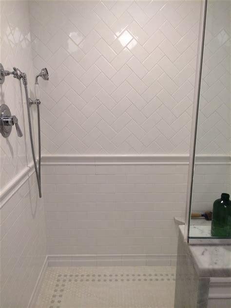 subway tile floor herringbone subway tile and floor for the home pinterest