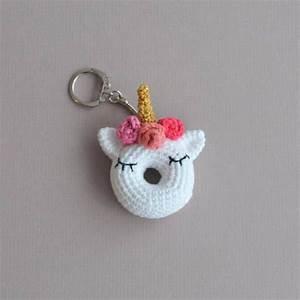 Porte Clef Licorne : crochet unicorn keyring crochet doughnut keyring amigurumi keychain llaveros unicornio y ~ Teatrodelosmanantiales.com Idées de Décoration