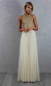 Champagne gold bridesmaid dresses naf dresses for Champagne gold wedding dress