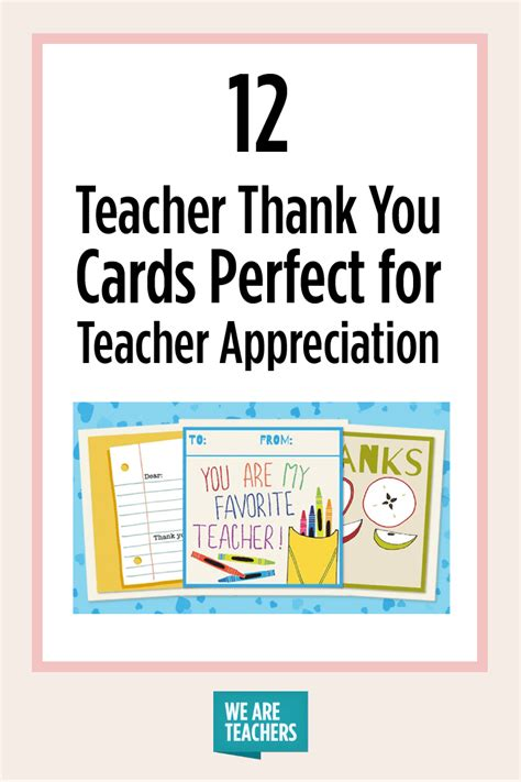 Printable teacher thank you cards are fun and delightful! Printable Teacher Thank You Cards for Teacher Appreciation