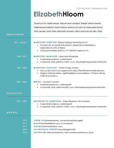 Modern Resume Styles by Blue Side Free Resume Template Docx Academia Career Resources For