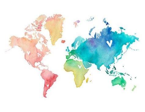 continent artwork watercolor watercolors artworks and colors