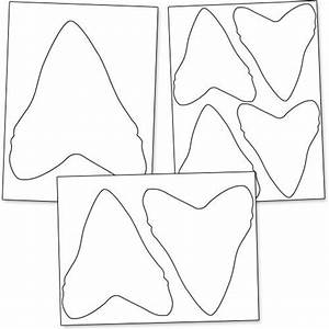 printable shark tooth from printabletreatscom shapes With shark teeth template